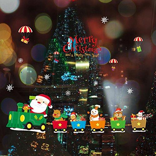 Cabina Navidad decoración hogar vinilo ventana pegatinas