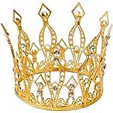 Minkissy corona diadema cristallo strass diadema regina principessa spettacolo corona elegante diadema accessorio per capelli