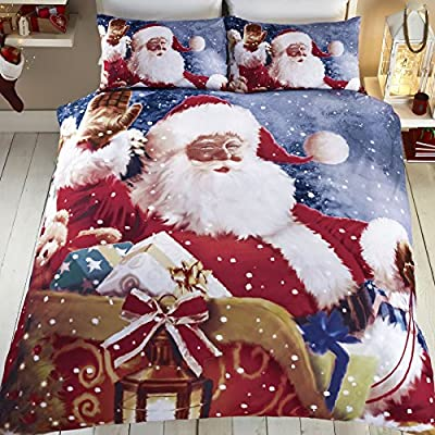 Santa Claus Sleigh Father Christmas Quilt Duvet Cover Bedding Set by Tony's Textiles - low-cost UK light store.