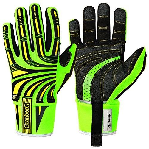 GRANBERG 115.9001-8 - 1 Paar Cut 5 Impact Hi-Viz Handschuhe für optimale Ergonomie und Komfort, Größe 8, Medium
