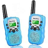 Nestling Walkie Talkie Niños Pantalla LCD de 8 Canales Linterna incorporada VOX 10 Tonos de Llamada Walkie Talkie Niñas Regal