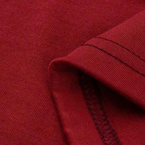 Chemise Femme,Manadlian Tuniques Gilet sans Manches Femme Blouse sans Manches Chemisiers Débardeurs Rouge