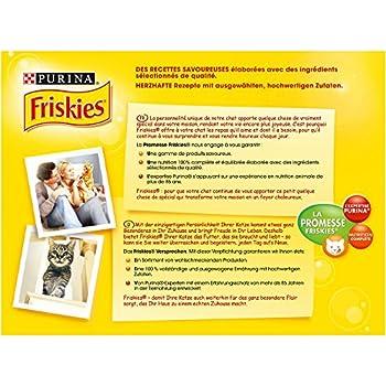 Friskies Chat Repas pour Chat Adulte Viandes/Légumes en Gelée 12 x 100 g