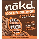 Nakd Cocoa Orange Fruit and Nut Bar, 4 x 35g Bars