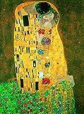 Migneco & Smith l'Affiche ILLUSTREE Poster G. Klimt Il Bacio Stampa Artistica in Offset su Carta Speciale gr.300 - Varie Misure (24x30)