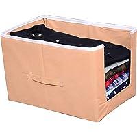 GR Art&Craft Non Woven Shirt Stacker/Shirt Organizer/Wardrobe Organizer/Cloth Organizer/Cloth Cover- Beige- Pack of 1