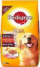Pedigree Adult Dog Food Meat & Rice, 10 kg Pack