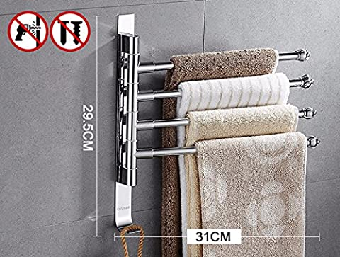 Das Badezimmer Regal keine Stanzen, Drehen die Handtuchhalter Edelstahl Handtuchhalter, Handtücher, Wand halterungen, (Edelstahl-wandhalterung Sink)