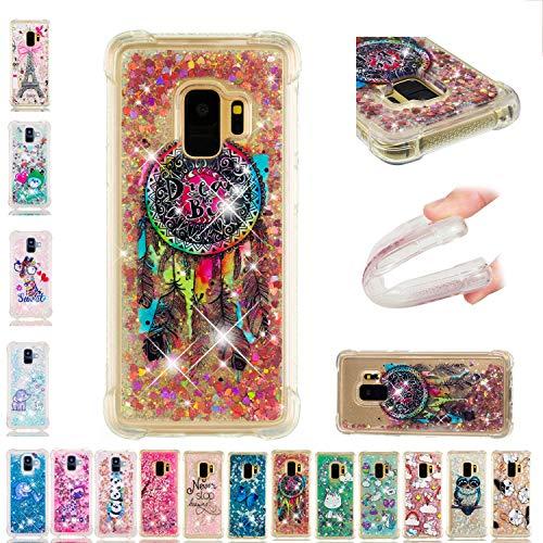 LA-OtterSamsung Galaxy S5 Hülle Glitzer Flüssig Durchsichtig Silikon GummiBumperFolieSchutzhülleHandyhülleTascheSchaleTransparent mit Motiv Traumfänger (Case Für Samsung S5 Otter Galaxy)