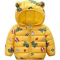 PROTAURI Bébé Veste Hiver, Garçons Filles Manteau à Capuche Enfants Manche Longues Léger Blousons Vêtement