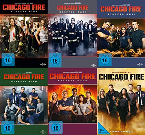 Chicago Fire - Komplette Staffeln 1+2+3+4+5+6 DVD Set (36 DVDs)