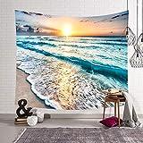 Morbuy Kreativ Tapisserie, Dekor Wandteppich Tapestry Strand Wandbehang aus Polyster Wandtuch Tischdecke Meditation Yogamatte (Groß (150 x 200cm), D)
