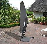 acamp Schutzhülle für Alu-Ampelschirm bis 300cm Gartenmöbel, Anthrazit, 113x75x102 cm