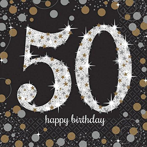 KLING 50. * für eine Party zum Geburtstag // Napkins fünfzig fifty (50 Geburtstag-servietten)
