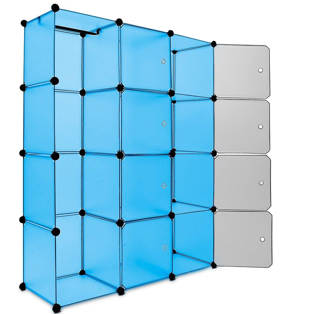 Regalsystem 12 Boxenfächer Steckregal Kleiderschrank DIY Garderobe ...