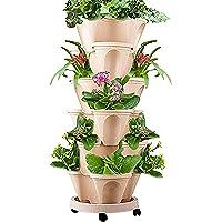Torre Fiore impilabile, 1pcs Vaso per piantare Frutta Melone vegetale, Vasi per piantagione impilati creativi vasi per…