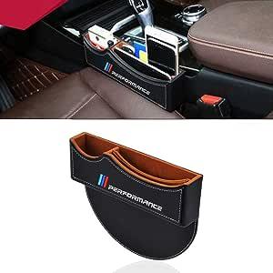 Oyadm Sitzspaltfüller Aufbewahrungsbox Für Die Mittelkonsole Autositz Aufbewahrungsbox Für 1series 2series 3series 4series 5series M X1 X2 X3 X5 Schwarz 1 Stück Auto