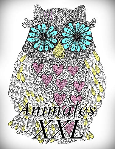 Animales XXL: Libro para colorear para adultos y niños