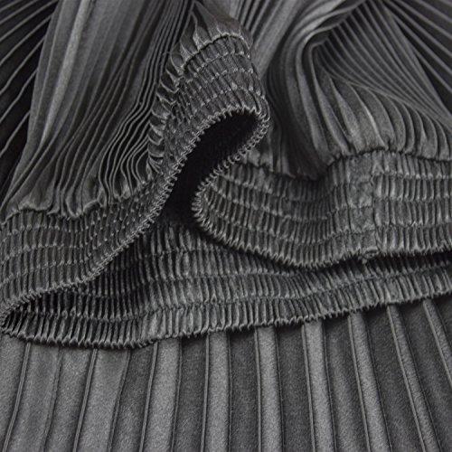 Mena UK Frauen Weinlese faltete hohe taillierte Röcke 14 Farben Orgel Rock Schwarz