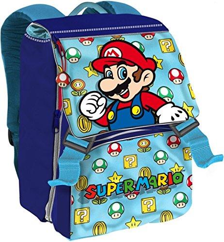 Super Mario Zaino Game estensibile elementare materna scuola Rosso o Azzurro come disponibile