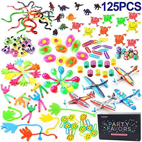 125PCS Assortimenti di Giocattoli per Bambini, Bomboniere per Feste Forniture Ragazza Ragazzo Regalo di compleanno Borse Bambini Premio Scuola di Carnevale, Articoli per Feste e Compleanni per Bambini