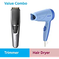 Philips Men's grooming combo - Trimmer (Durapower) & Dryer (Blue)