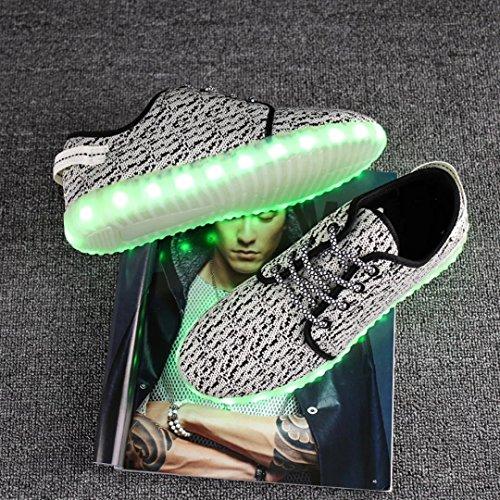 Joansam  Led Shoes,  Jungen Durchgängies Plateau Sandalen mit Keilabsatz Grau