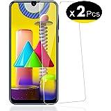 NEW'C Lot de 2, Verre Trempé pour Samsung Galaxy M21, M31, Film Protection écran - Anti Rayures - Ultra Résistant (0,33mm HD Ultra Transparent) Dureté 9H Glass