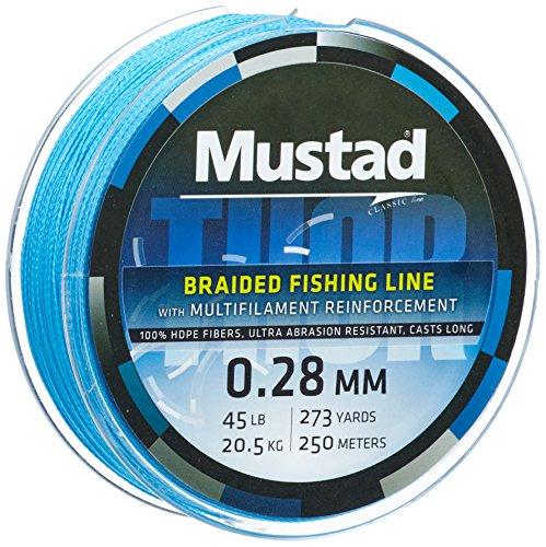 Mustad Angelschnur 0,28mm Thor Braid ML015 250m 45lbs hellblau, 2331128