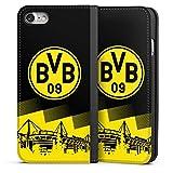 DeinDesign Apple iPhone 7 Leder Flip Case Tasche Hülle BVB Logo Borussia Dortmund