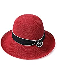 Aszhdfihas Cappello da Spiaggia Cappello da Spiaggia Cappello da Spiaggia  per Donna Estiva Rimovibile Coreano Estate Cappello di… ce61804bf4fe