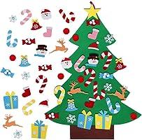 Aparty4u 3ft Feltro Albero di Natale con 26 Staccabili Ornamenti, DIY Regali di Natale di Nuovo Anno per la Decorazione...