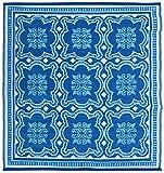 Esschert Design Gartenteppich in Fliesen Optik, 151,5 x 151,5 x 0,9 cm, Vorleger, Fuß Abstreifer