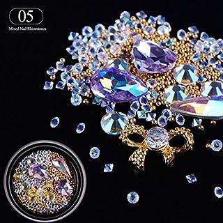LQZ(TM) Nagel Strasssteine 3D in verschiedenen Größen Kristall Glitter Strass Steinchen UV Gel Naildesign #5