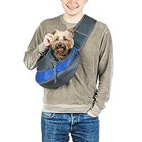 24x7 eMall® Pet Sling Carrier - Small Dog Cat Sling Pet Carrier Bag Safe Comfortable Adjustable Pouch Single Shoulder…