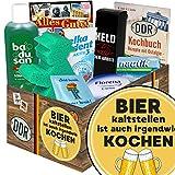 Bier kalt stellen ist auch irgendwie kochen | Ostpaket | mit Florena Creme, Elka Dent, Badusan und mehr | GRATIS Aufkleber - Bier kalt stellen ist auch irgendwie kochen