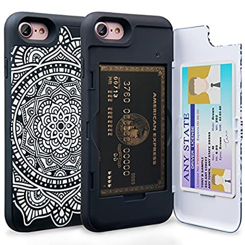 Coque iPhone 7 Mandala [TORU CX Pro] Coque portefeuille, Etui