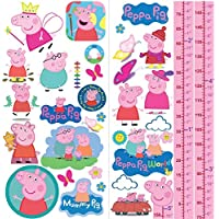 Peppa Pig Family Wall Stickers Bedroom Art Mural Buys Girls Growth Height Chart