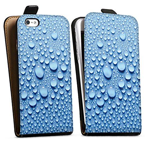 Apple iPhone X Silikon Hülle Case Schutzhülle Wasser Tropfen Muster Downflip Tasche schwarz