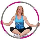ResultSport Hula Hoop banden voor volwassenen, 1,2 kg, gewicht 100 cm breed, 8-delige afneembare, verzwaarde fitnessbanden, f