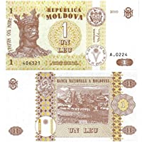 Banconote per collezionisti Bank of Moldova 1 Leu Banconota Crisp UNC / 2010 / Genuine carta moneta