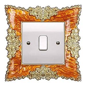 YiRAN 2PCS Aufkleber lichtschalter licht Schalter Surround Stickers Cover Home Deko Light Switch Aufkleber