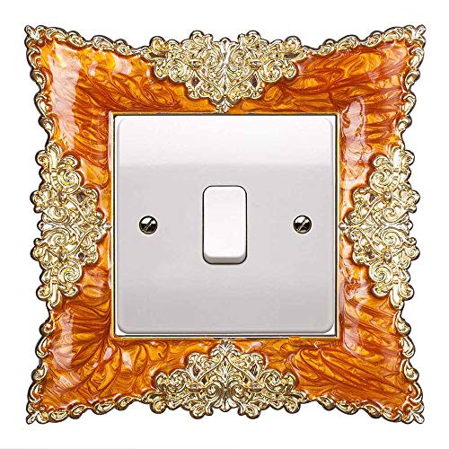 YiRAN 2PCS Pegatinas Decorativas para interruptores, Marco Decorativo para Interruptor de Pared,diseño...