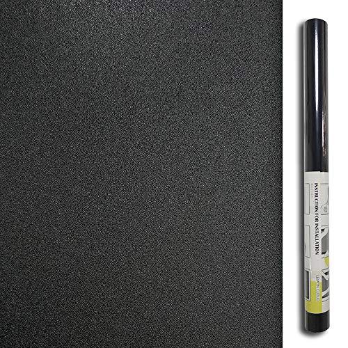 LEMON CLOUD Fensterfolie selbstklebend Schwarz Fensterfolie Sichtschutz Folie für Fenster 100% licht blockieren Verdunkelungsfolie mit Anti-UV (Schwarz, 90 x 200 cm)