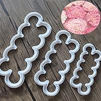 nicebuty 3pcs Carnations azúcar moldes para tartas galletas DIY herramientas de corte de impresión flor cortadores