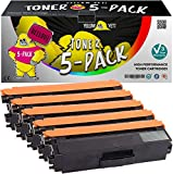 Yellow Yeti 5er Pack TN326 TN-326 Premium Toner kompatibel für Brother HL-L8250CDN HL-L8350CDW DCP-L8400CDN, DCP-L8450CDW MFC-L8600CDW MFC-L8650CDW MFC-L8850CDW HL-L8250CDW HL-L8350CDWT [3 Jahre Garantie]