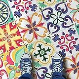 HomeArtDecor | Dekorative Fliesen | Vintage Italienische Fliesen | Fliesenaufkleber | Einfach Schälen und Kleben | Geeignet für Küche und Bad | 24 Individuelle Fliesen Abziehbilder | Alle Dimensionen | Bodenfliesen und Wandfliesen | Wasserdicht | Wohnkultur