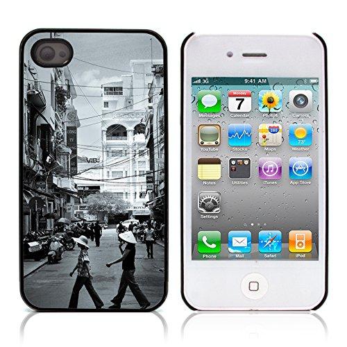Graphic4You Hong Kong Postkarte Ansichtskarte Design Harte Hülle Case Tasche Schutzhülle für Apple iPhone 4 und 4S Tapei Taiwan