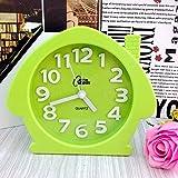 Y-Hui Silence der Wecker Stereo Candy Farbe Kleines Haus Uhr Alarm Hufeisen, Tisch, Grün House