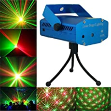 higadget Projector Laser Mini Disco Light, Projector & Stage Lighting for Diwali Christmas Festivals and Parties